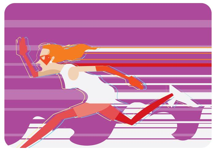 Vector Super Fast Runner Mujeres