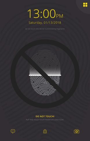 Raak niet aan en vingerafdruk mobiele achtergrond