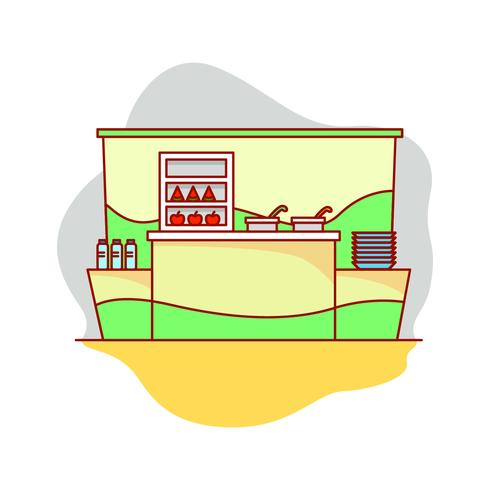 Canteen Vector Illustration