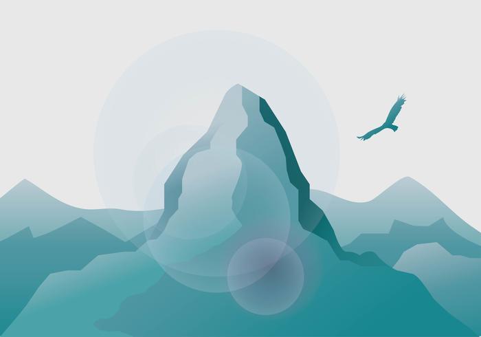 Matterhorn Hintergrund Vektor