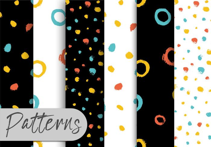 Colorful Brush Pattern Set  vector
