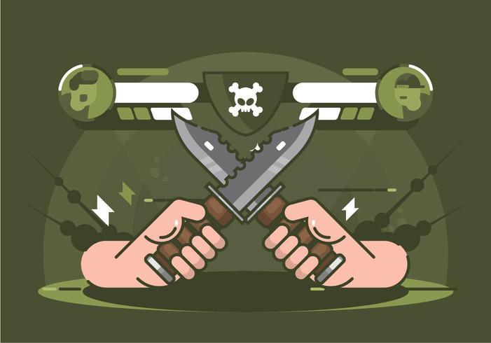 Ilustración de bayoneta