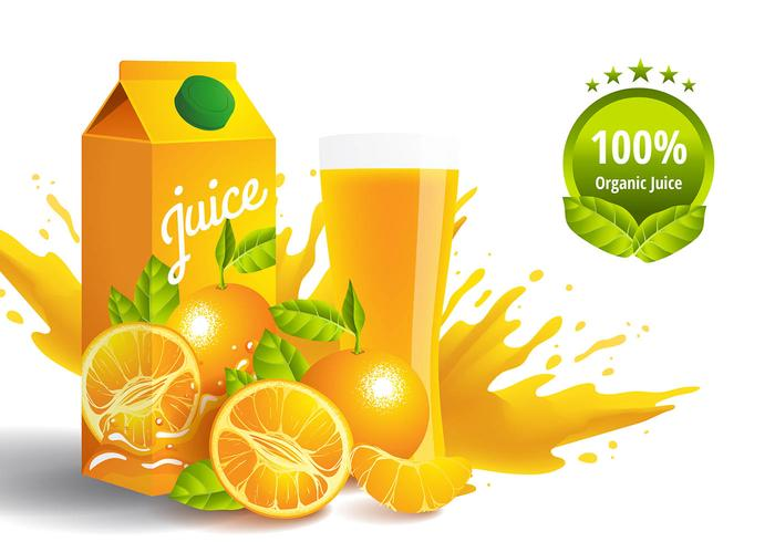Clementine Juice Vector