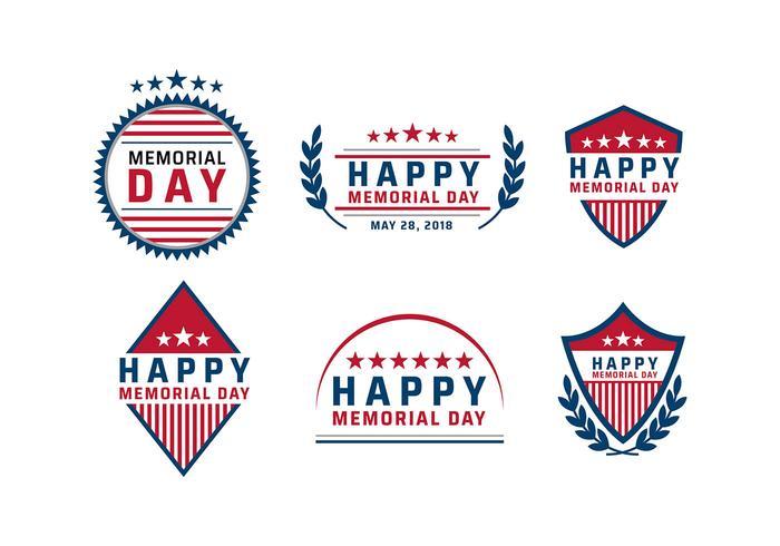 Memorial Day Logo Vecteur
