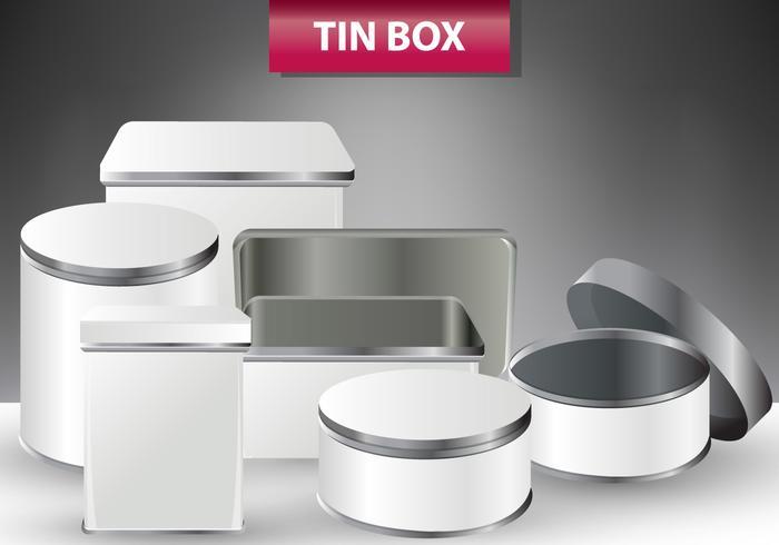 Set Of Tin Box Templates