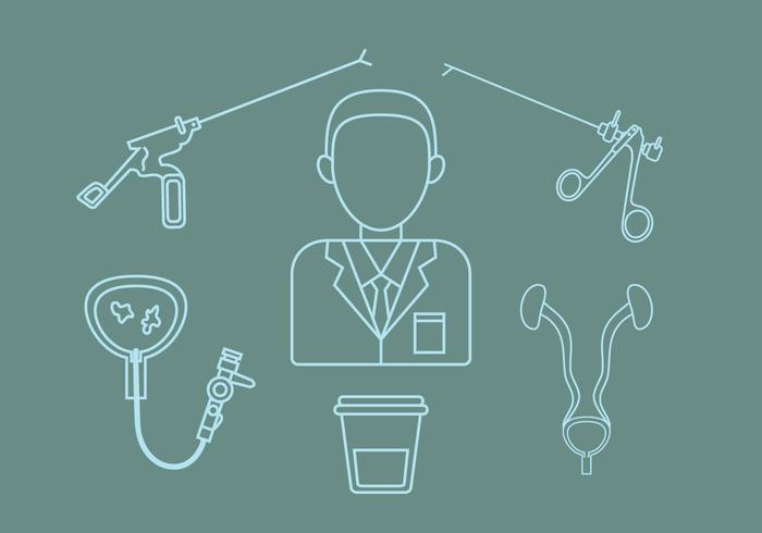 Urology Outline Icon Vector