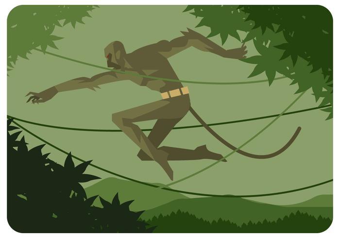 Monkey Boy Vector