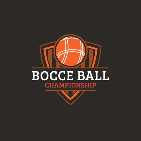 Badge de Logo de Championnat de Bocce Vintage