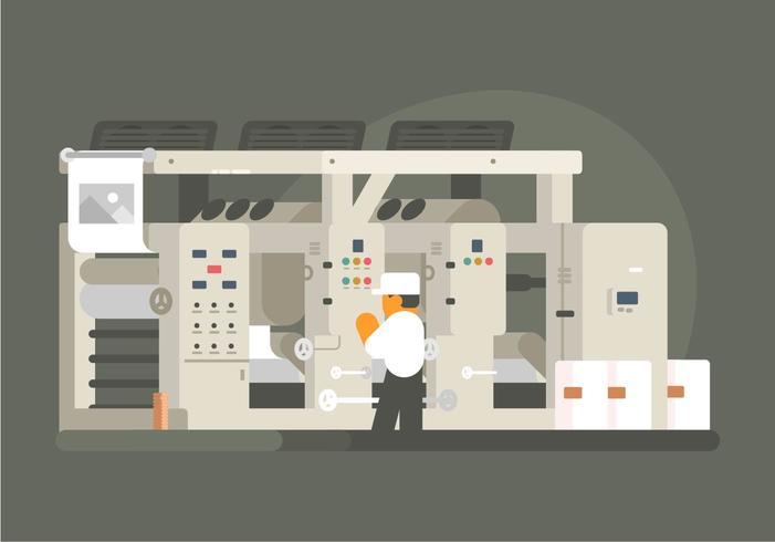 Tiefdruck-Illustration