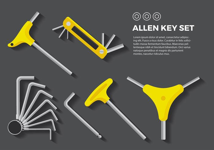 Allen Sleutel Ronde Gratis Vector