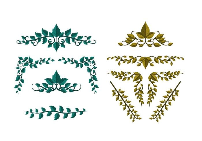 Gratis Poison Ivy laat Ornament Vector