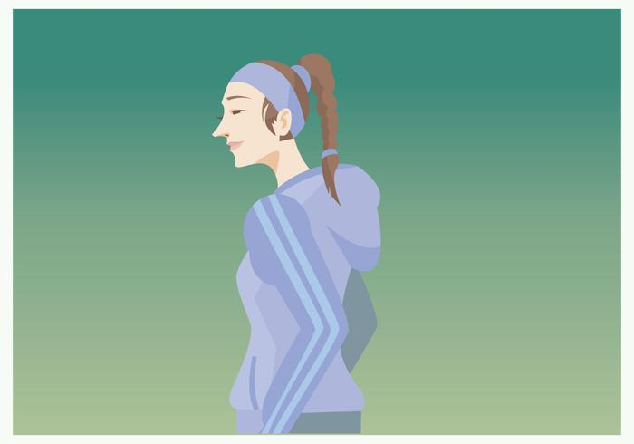 Sporty Girl With Plait Vector