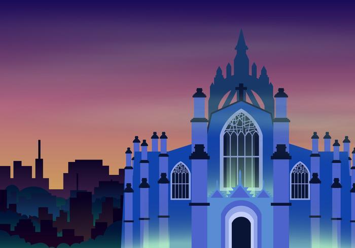 Edinburgh Castile bakgrunds illustration