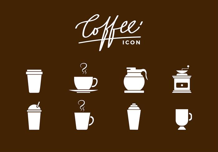 Siluetas Coffee Icon vecteur gratuit