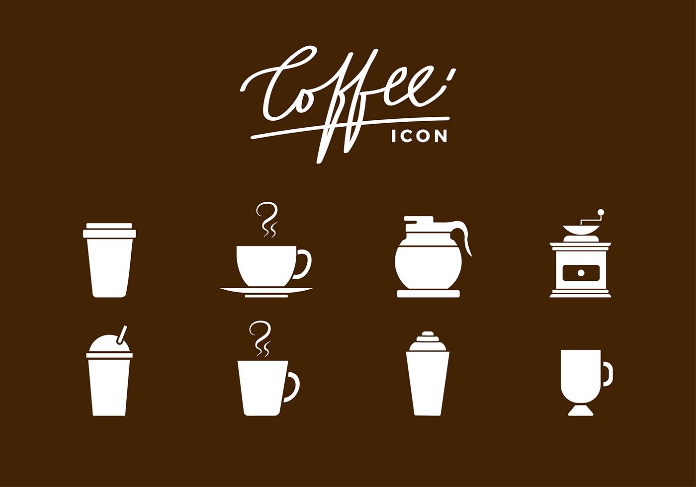 Siluetas Coffee Icon Free Vector Download Free Vector