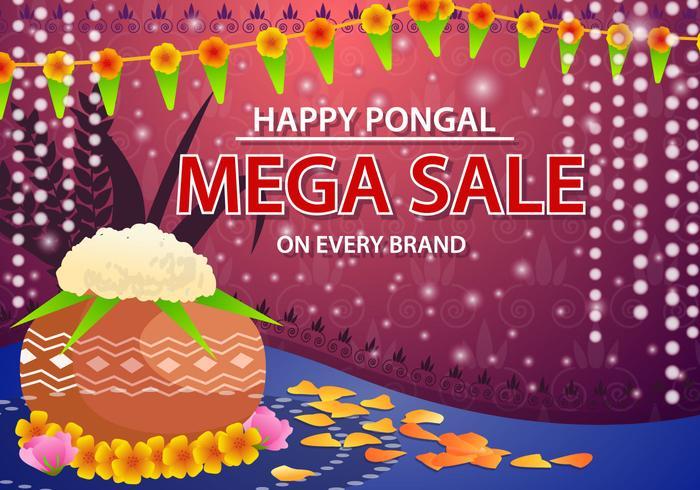 Happy Pongal verkoop Vector