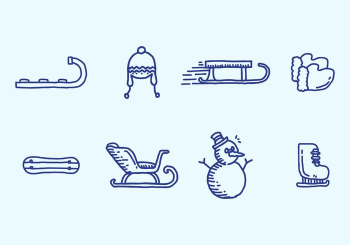 Toboggan-Icon-Set