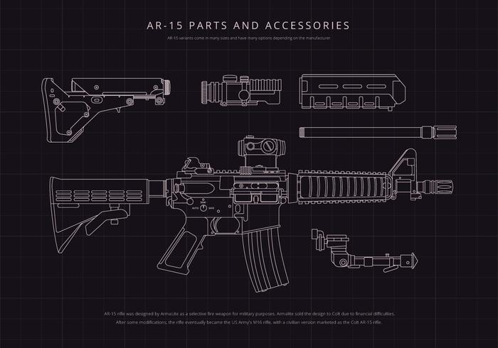 Illustration du mécanisme AR15