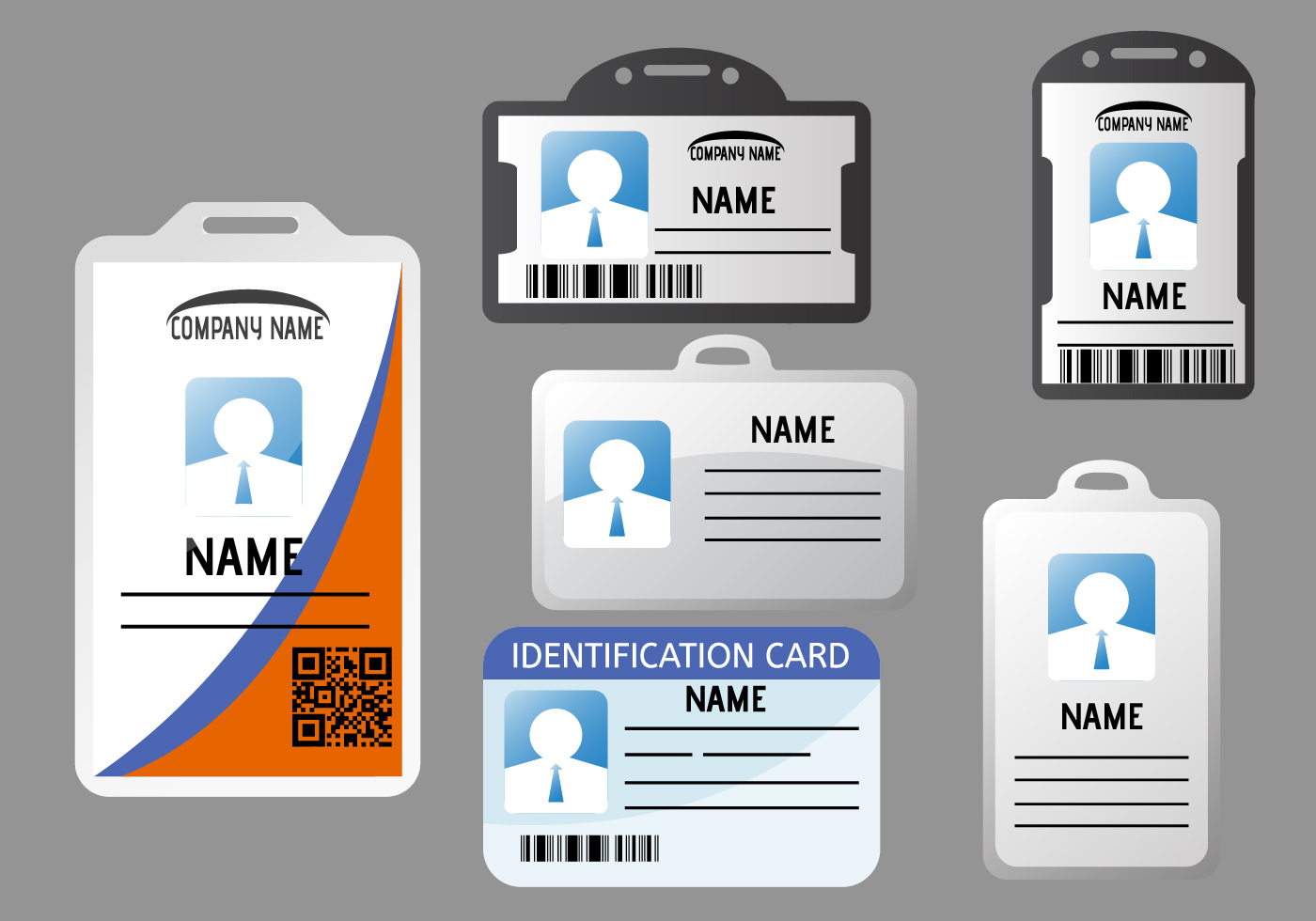 id card template free vector art