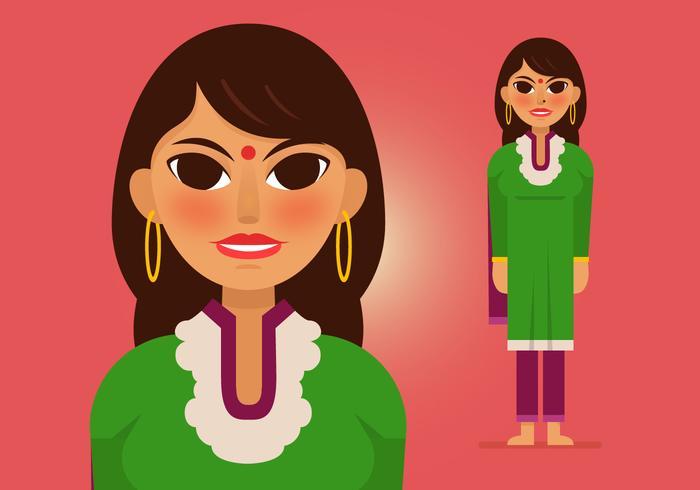 Vector Indiase vrouw