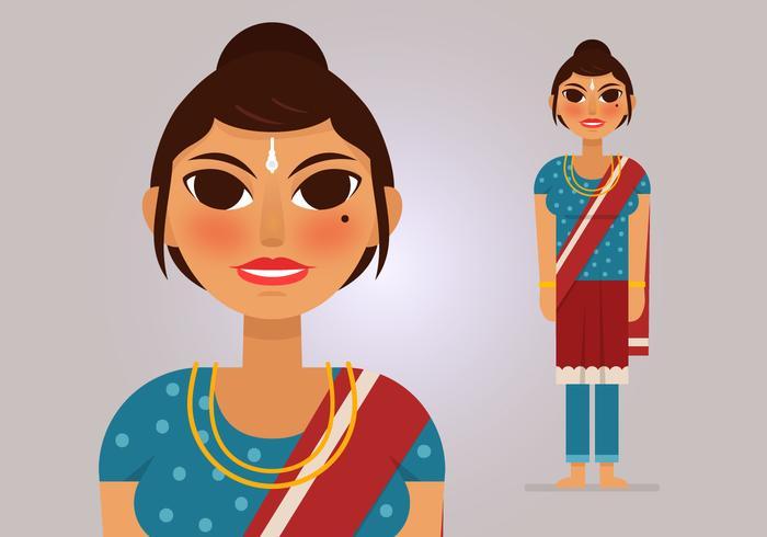 Vector mujer india