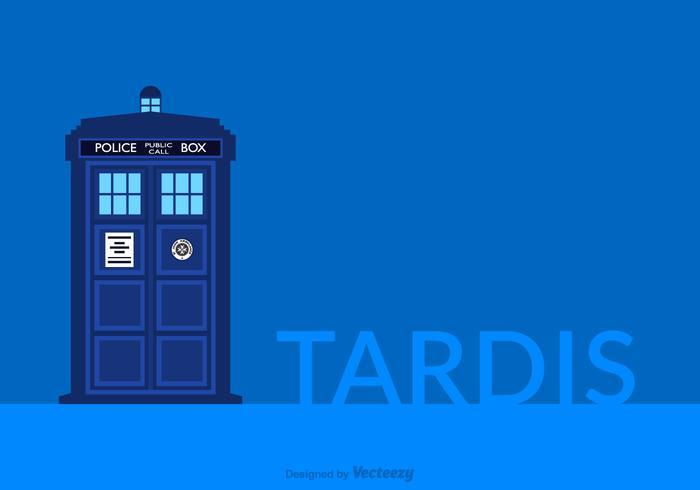 Tardis Police Box Vector Bakgrund