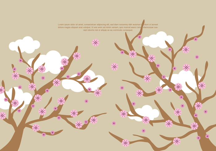 vector de flor de durazno