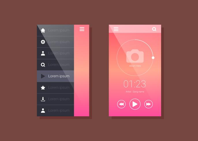 Iconic Mobile App GUI Vectors