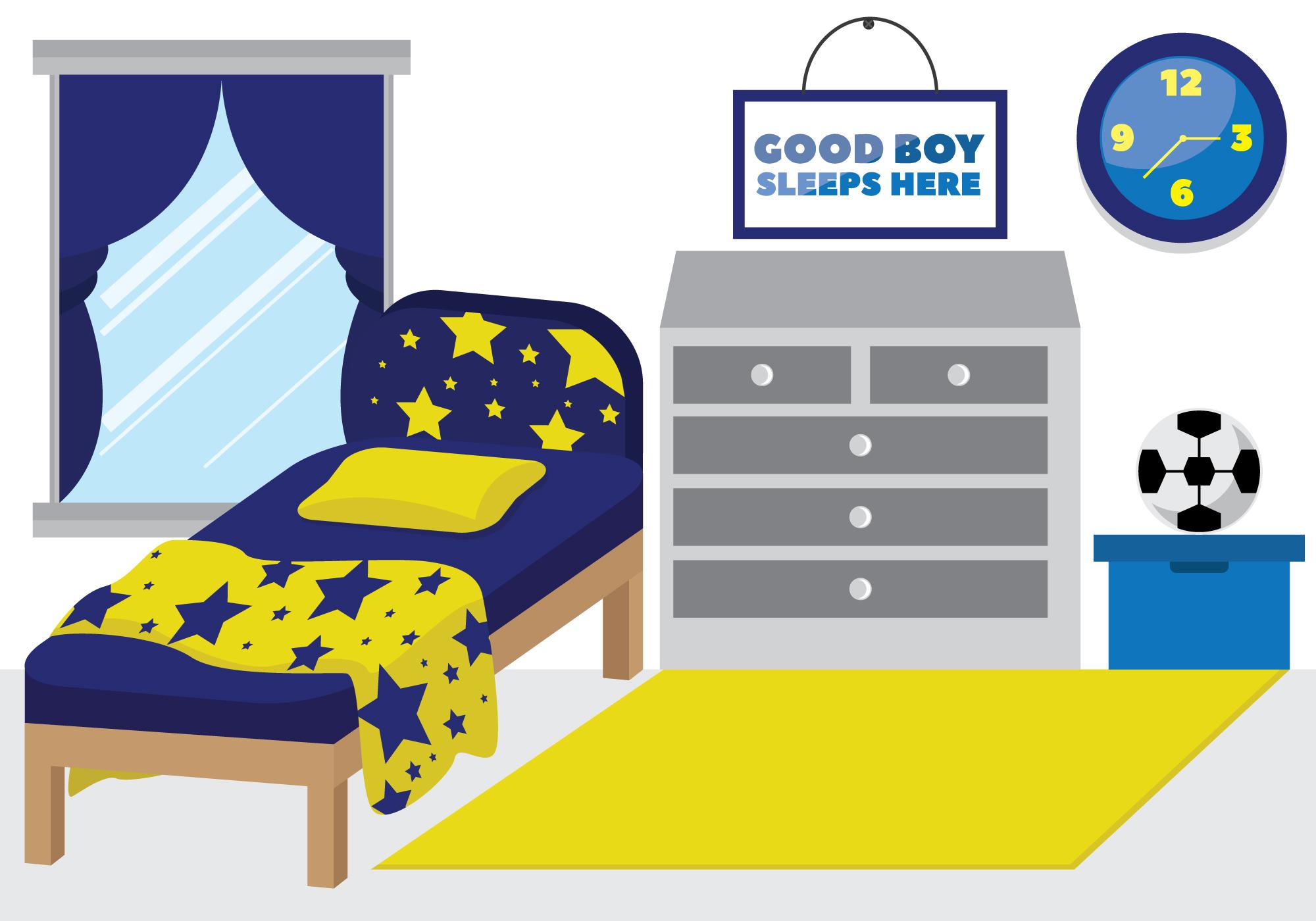 kids room decor boy's style  download free vectors