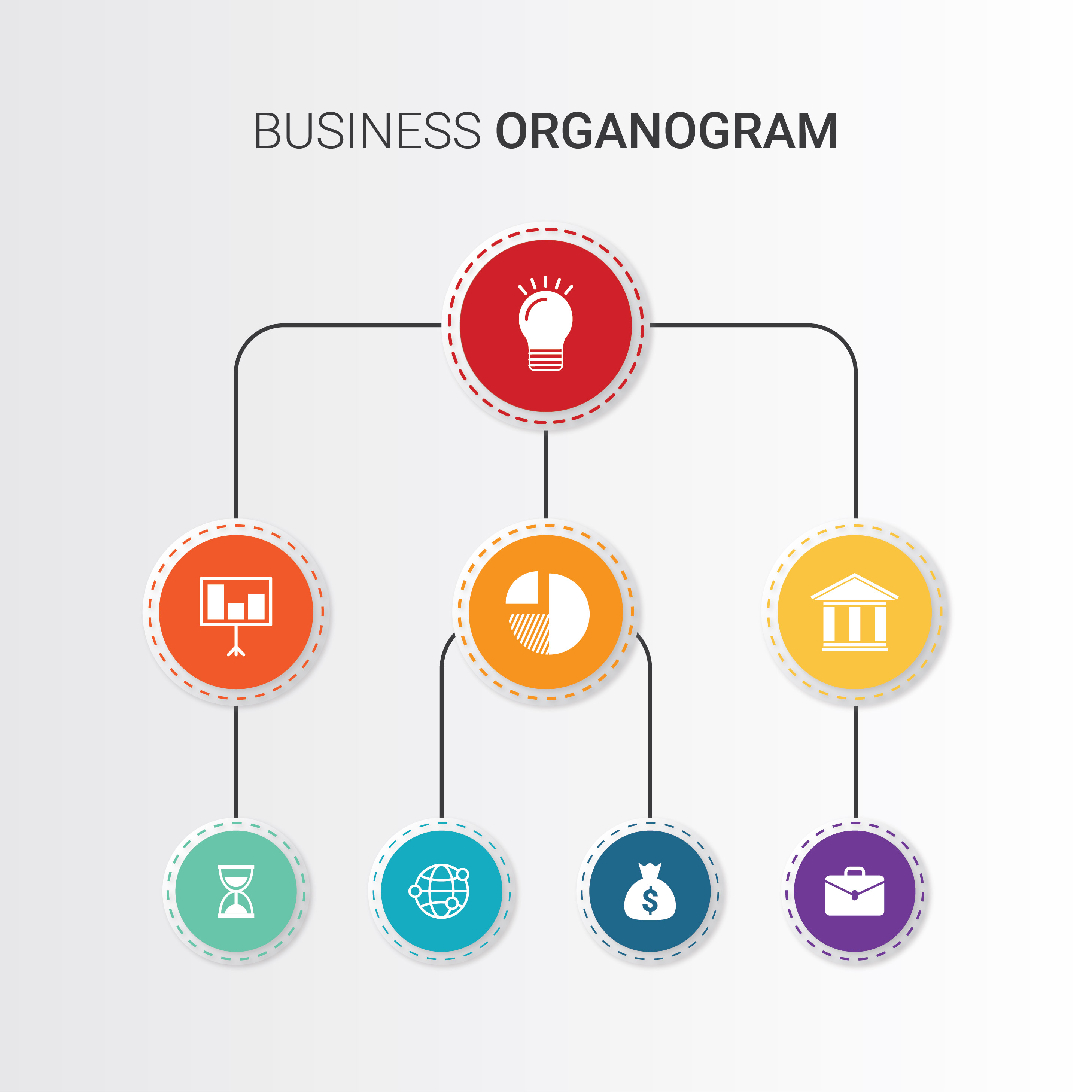 Organogram free vector art 25 free downloads for Organigram template