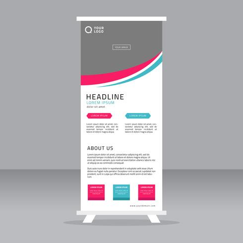 roll up banner stand template download free vector art stock