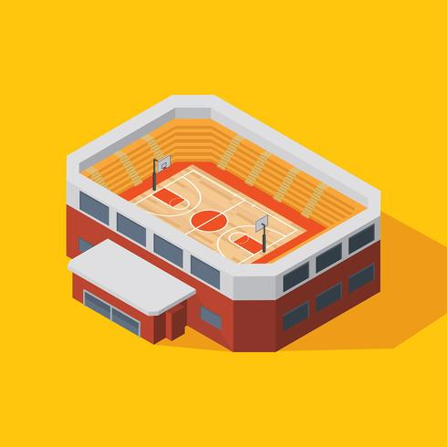 Basketball Stadium Isometric Vecto