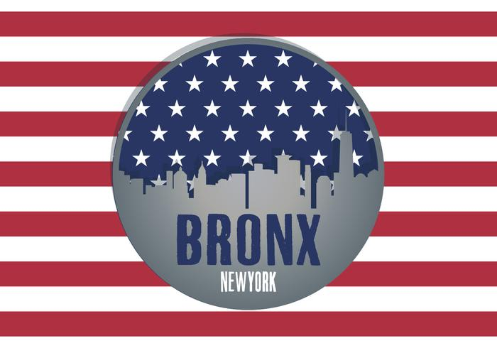 vintage bronx illustration vektor