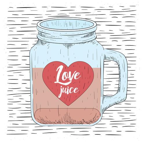 Dibujado a mano gratis Vector Love Jar