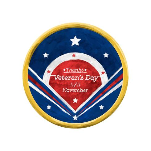 Gratis Veteran's Day aquarel Vector