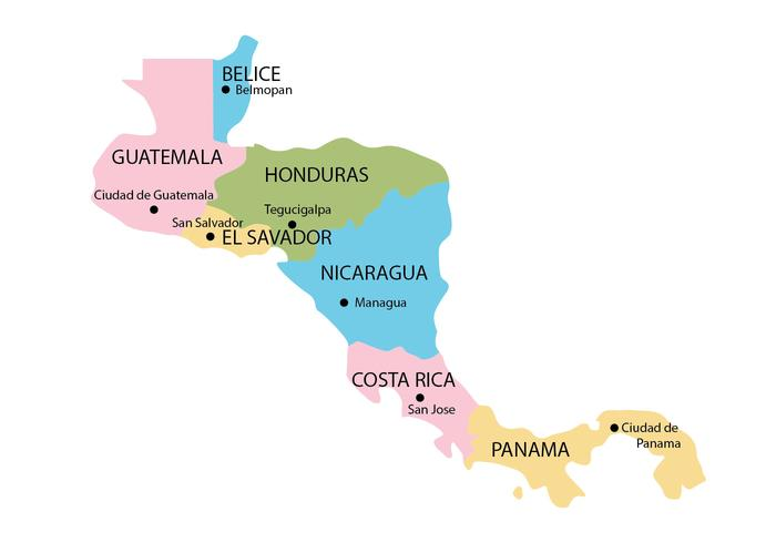 Central America Map Download Free Vector Art Stock Graphics Images