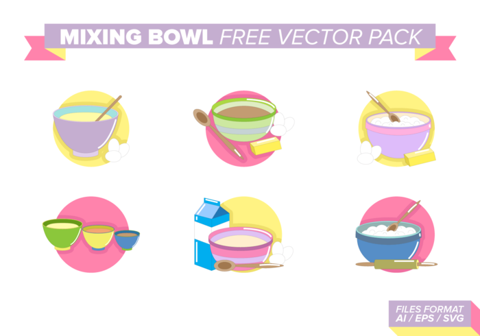 Mixing Bowl Free Vector Pack