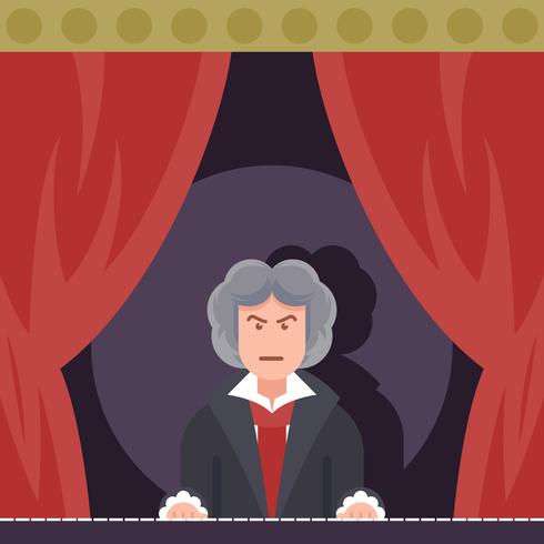 Beethoven playing piano