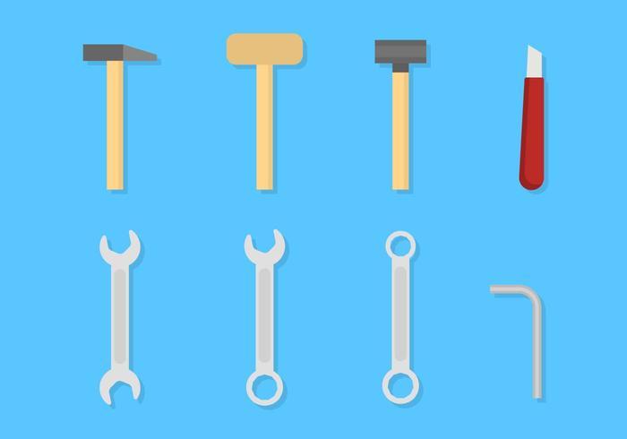 Flache Werkzeugvektoren vektor