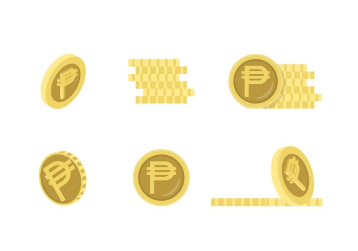 Pesos Icons Pack de vecteur gratuit