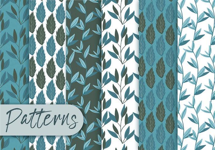 Conjunto de patrón floral azul