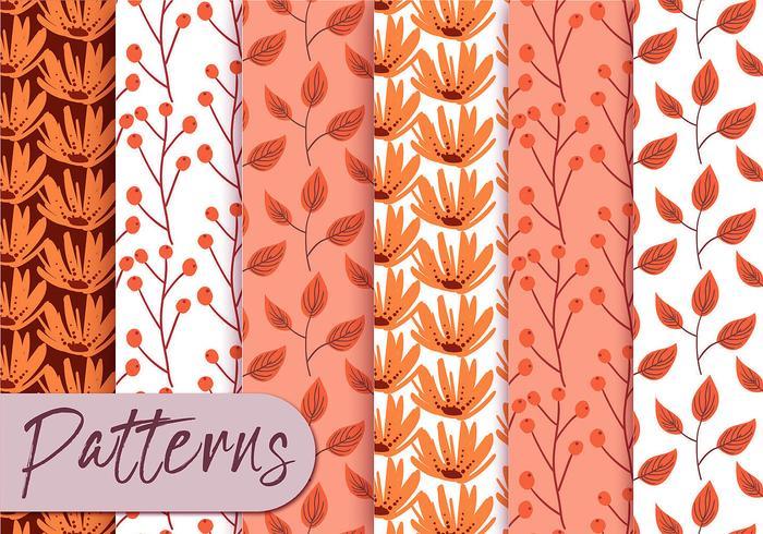 Pastel Orange Pattern Set