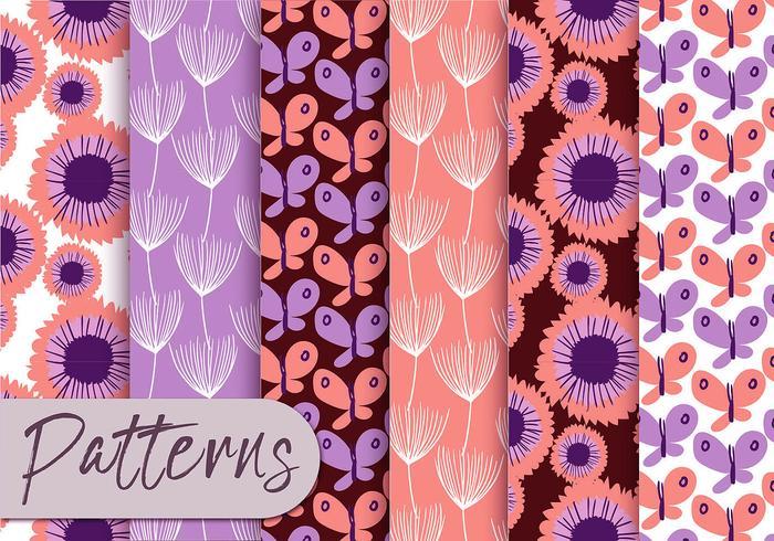Ensemble de motifs Pastel violet