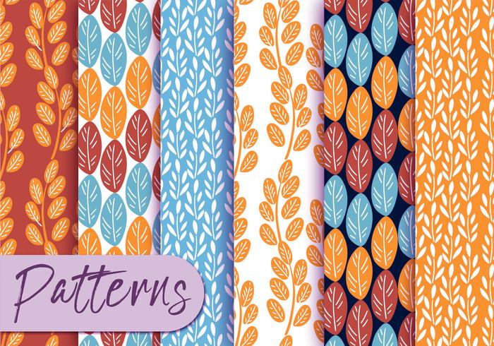 Colorful Botany Pattern Set