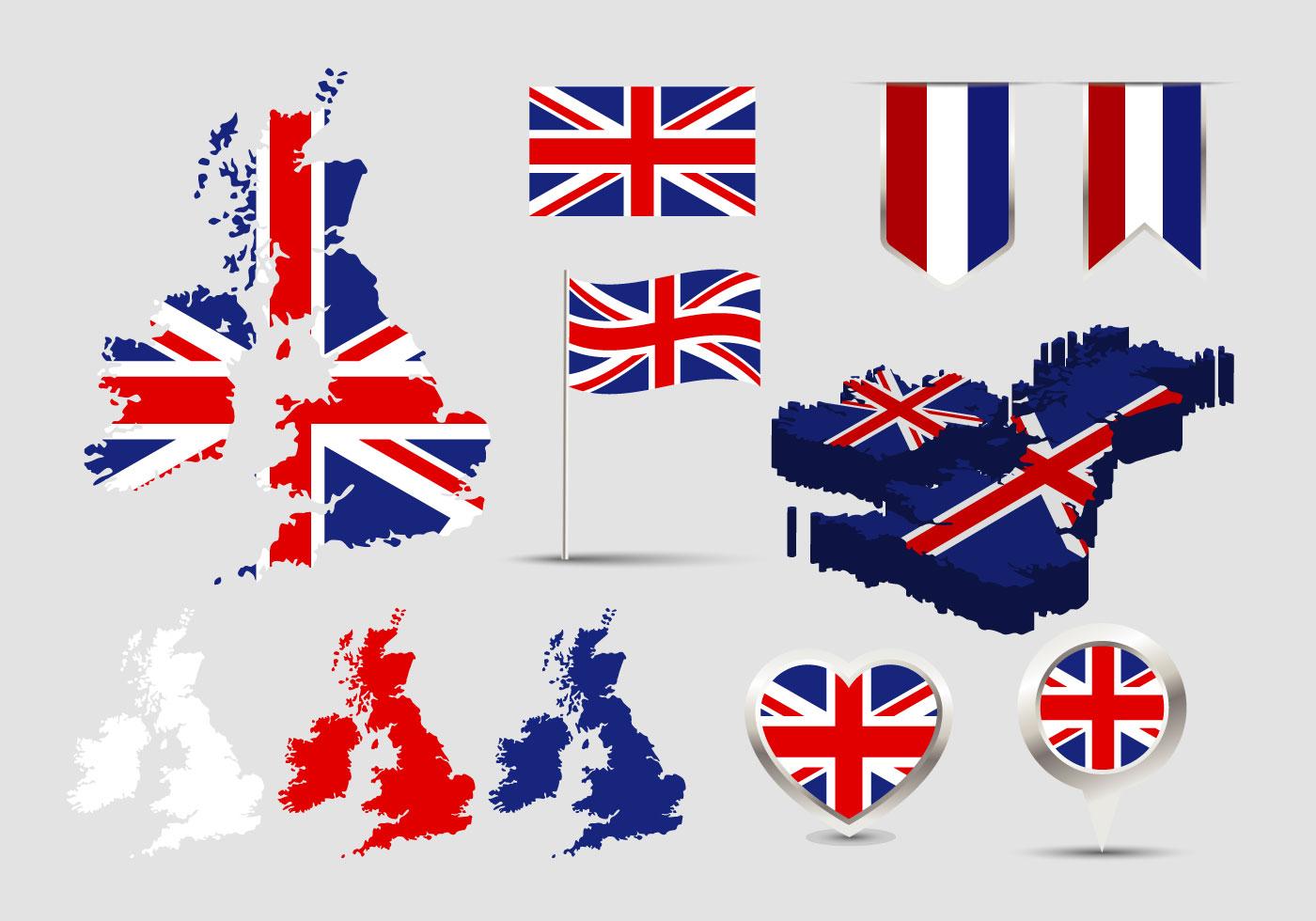 British Isles Map Flag Vector - Download Free Vector Art ...