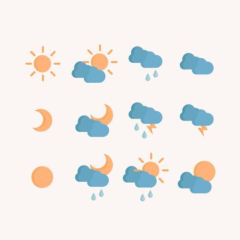 Vector símbolos meteorológicos