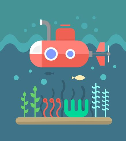 Submarine Under Ocean - Download Free Vector Art, Stock Graphics & Images
