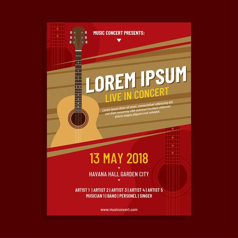 Acoustic Concert Poster Template Vector - Download Free Vector Art ...