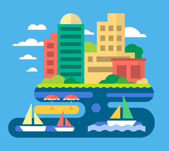 Diseño de playa de la ciudad