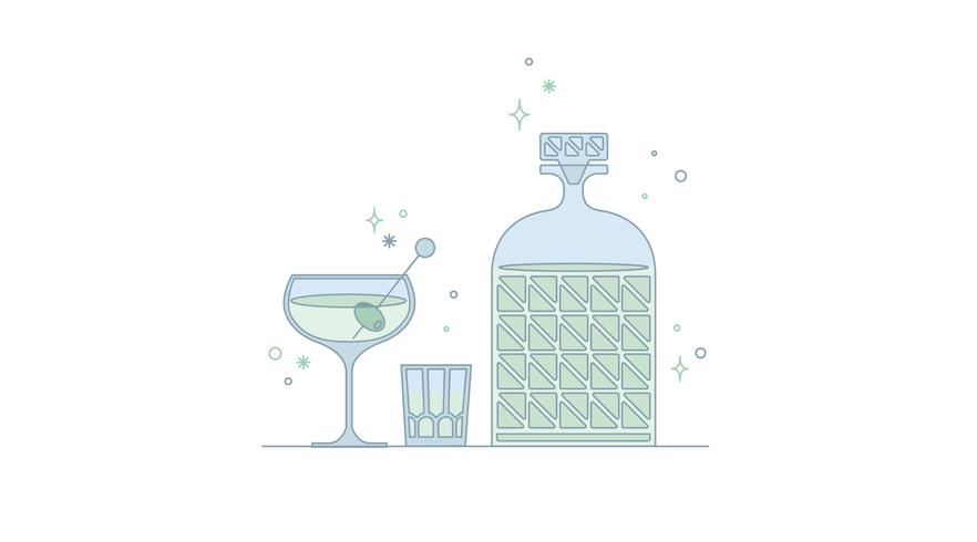 Glassware Bottle Vector